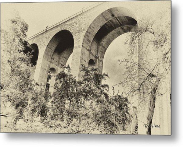 San Diego Historical Cabrillo Bridge Metal Print by Russ Harris