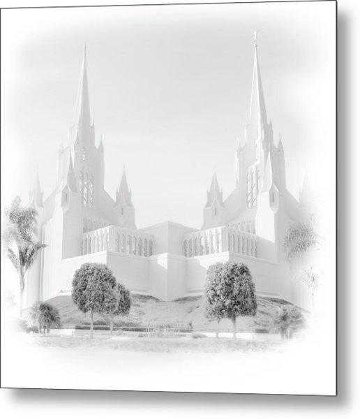 San Diego Lds Temple Metal Print