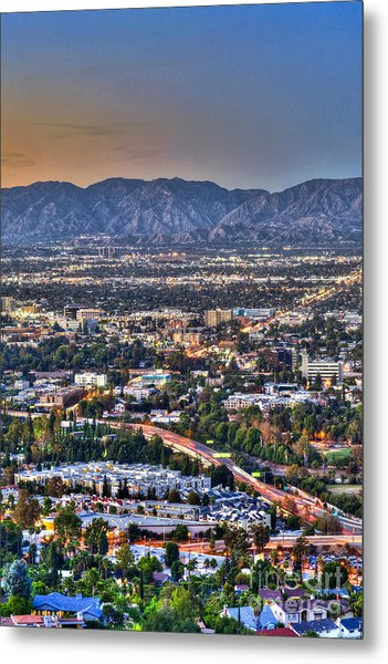 San Fernando Valley Vertical Metal Print