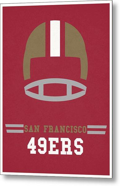 San Francisco 49ers Vintage Art Metal Print