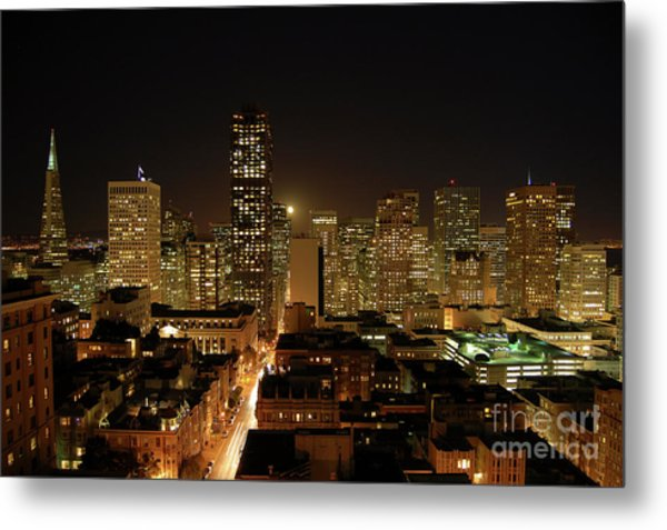 San Francisco At Night Metal Print