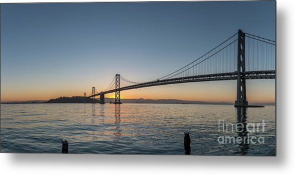 San Francisco Bay Brdige Just Before Sunrise Metal Print