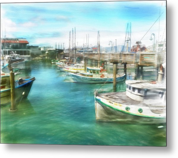 San Francisco Fishing Boats Metal Print
