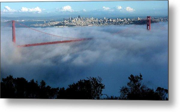 San Francisco Golden Gate Bridge Panoramic  Metal Print