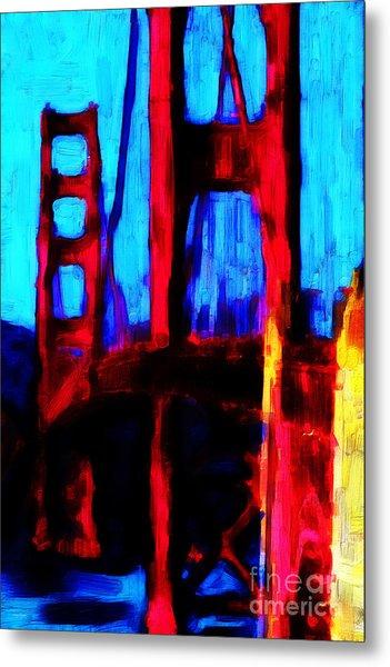 San Francisco Golden Gate Bridge Metal Print by Wingsdomain Art and Photography