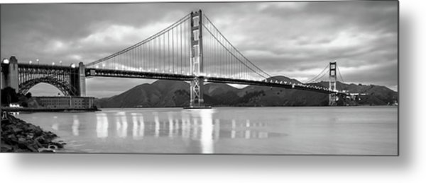 San Francisco Golden Gate Panorama Black And White