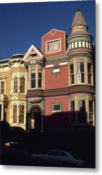 San Francisco Haight Ashbury - Photo Art Metal Print