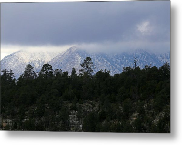 San Francisco Mountains From Walnut Canyon Metal Print