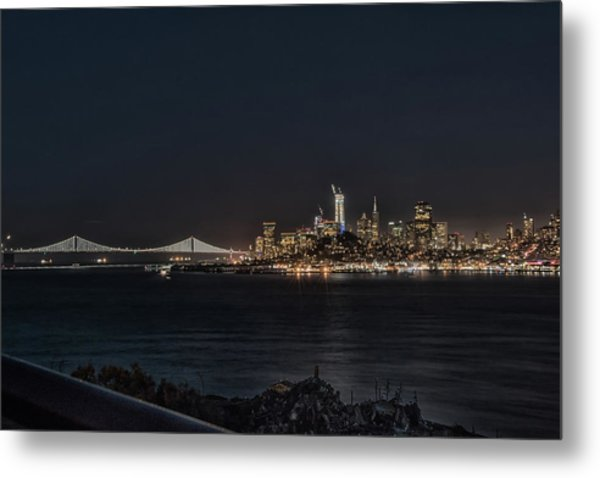 Metal Print featuring the photograph San Francisco Night by Philip Rodgers