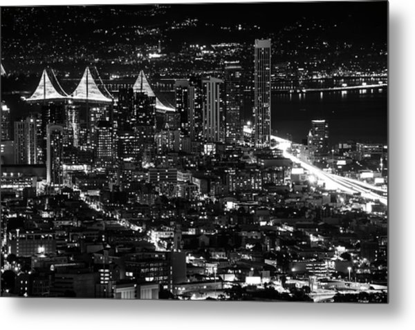 Metal Print featuring the photograph San Francisco Nights by Rand