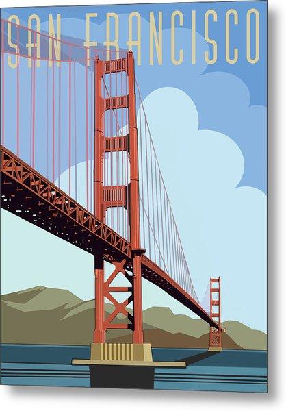 San Francisco Poster  Metal Print