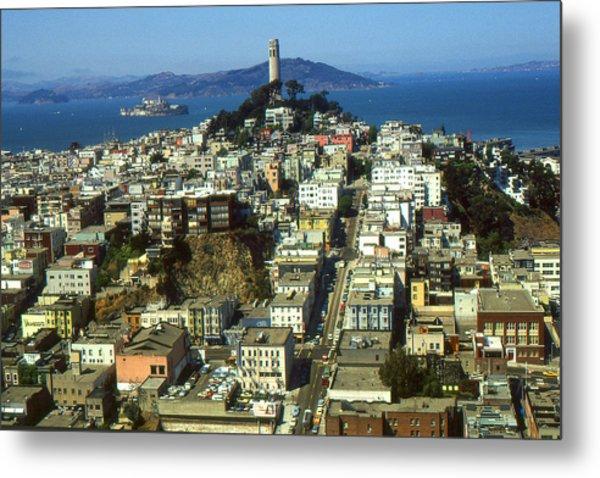 San Francisco - Telegraph Hill And Alcatraz Metal Print