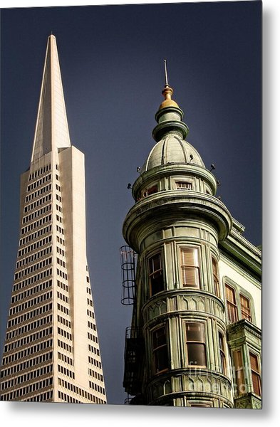 San Francisco Then And Now Metal Print