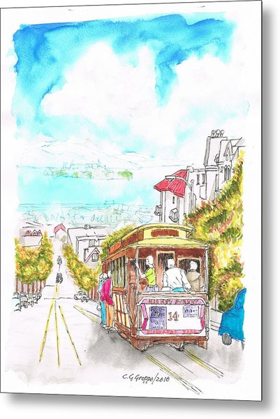 San Francisco Trolley - California Metal Print