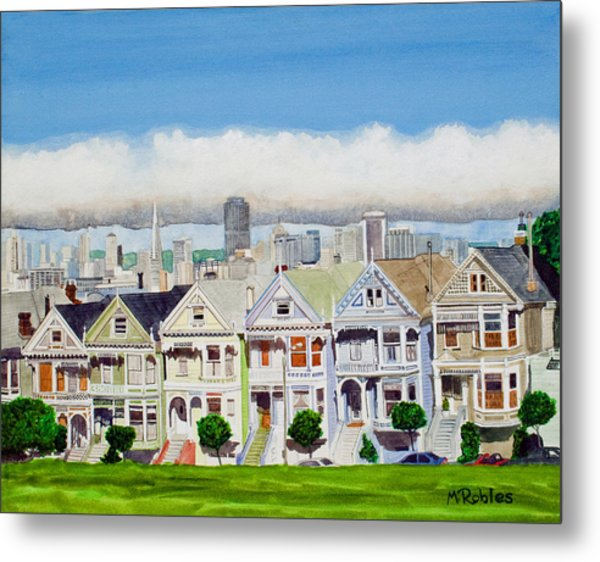 San Francisco's Painted Ladies Metal Print