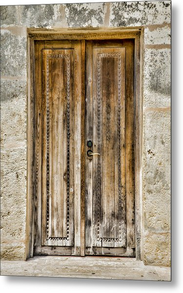 San Juan Capistrano Door #4 -- San Antonio Metal Print