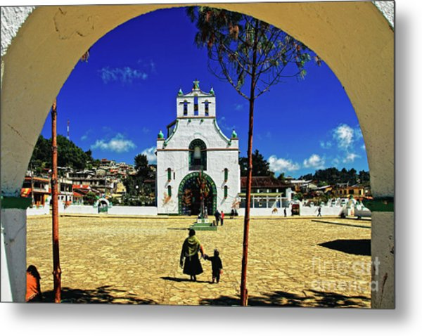 Metal Print featuring the photograph San Juan Chamula Church In Chiapas, Mexico by Sam Antonio Photography