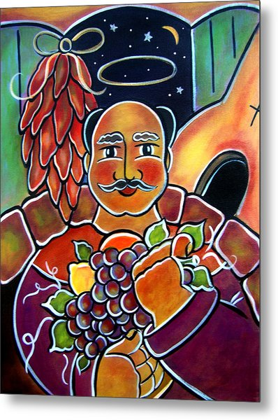 Metal Print featuring the painting San Pasqual by Jan Oliver-Schultz