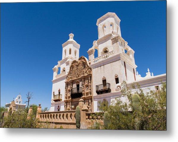 San Xavier Mission - Tucson Arizona Metal Print