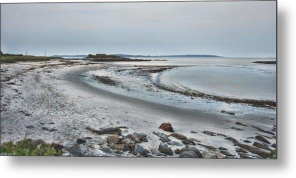 Sand Along The Shoreline Metal Print