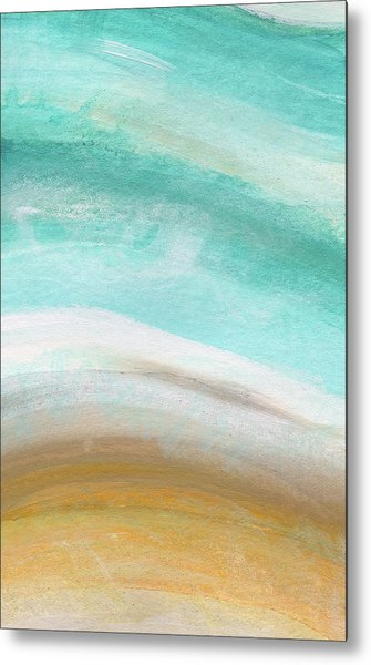 Sand And Saltwater- Abstract Art By Linda Woods Metal Print