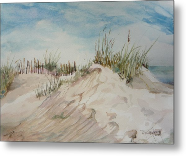 Sand And Sky Metal Print by Dorothy Herron