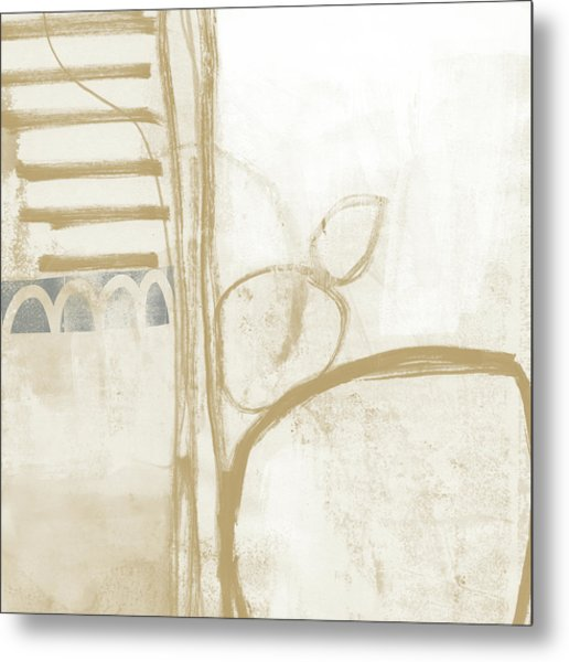 Sand And Stone 3- Contemporary Abstract Art By Linda Woods Metal Print