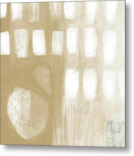 Sand And Stone 4- Contemporary Abstract Art By Linda Woods Metal Print