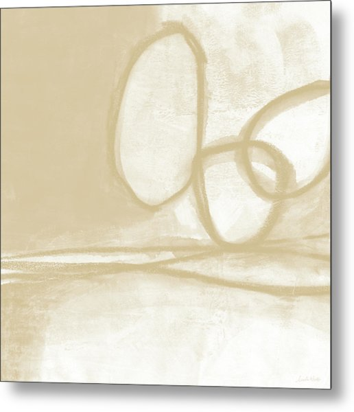 Sand And Stone 6- Contemporary Abstract Art By Linda Woods Metal Print