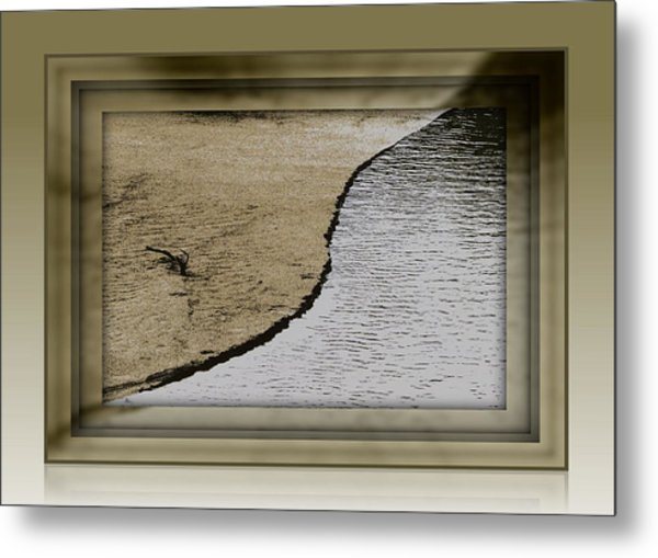 Sand And Water Metal Print by Dottie Dees