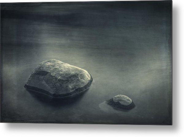 Sand And Water Metal Print