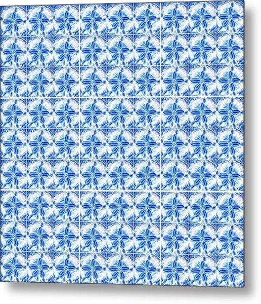 Sand Dollar Delight Pattern 1 Metal Print