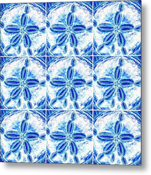 Sand Dollar Delight Pattern 3 Metal Print