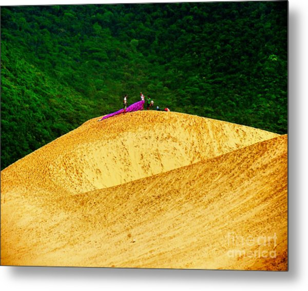 Sand Dune Fun Metal Print