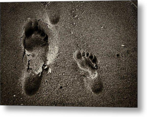 Sand Feet Metal Print