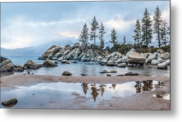 Sand Harbor Metal Print
