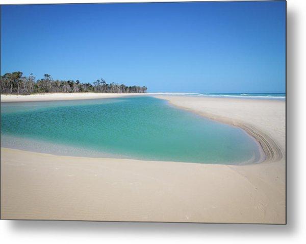Sand Island Paradise Metal Print