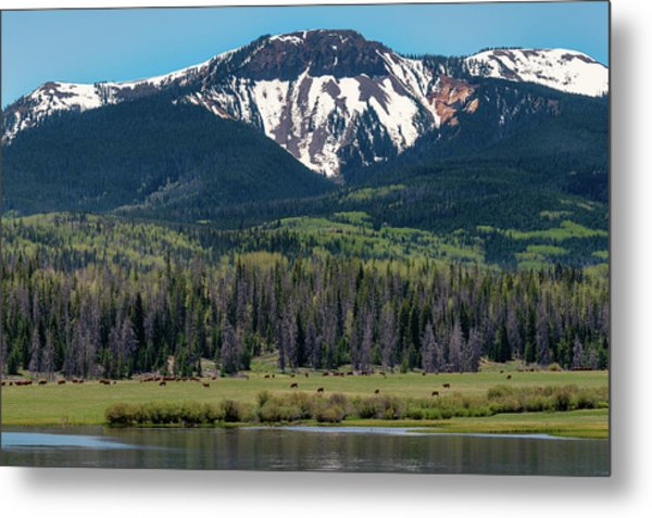 Metal Print featuring the photograph Sand Mountain From Steamboat Lake by Philip Rodgers