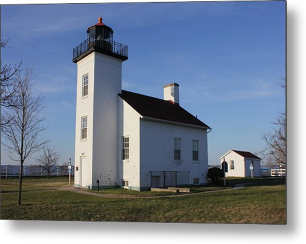Sand Point Lighthouse In Escanaba Metal Print
