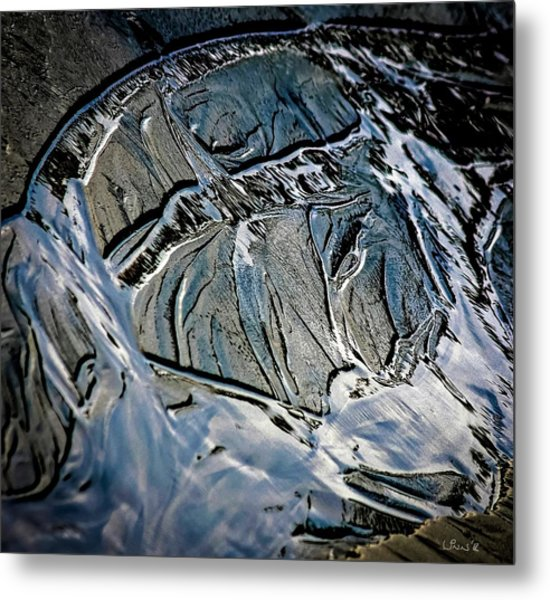 Sand Reflection Metal Print