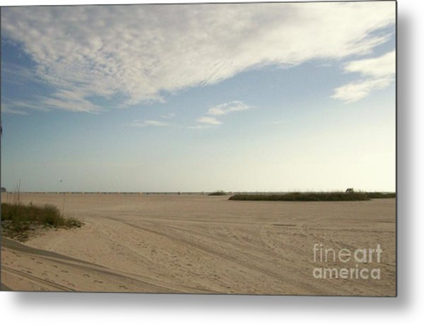 Sand Storm At St. Pete Beach Metal Print