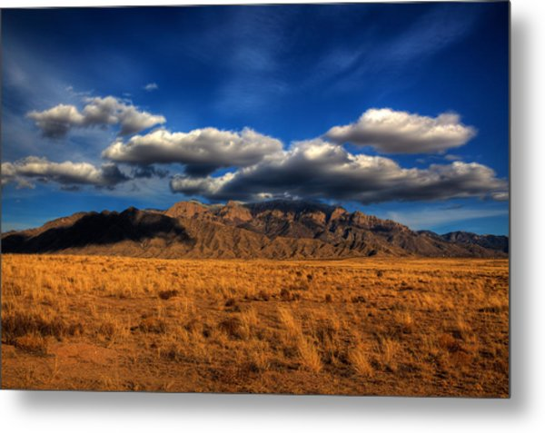 Sandia Crest In Late Afternoon Light Metal Print