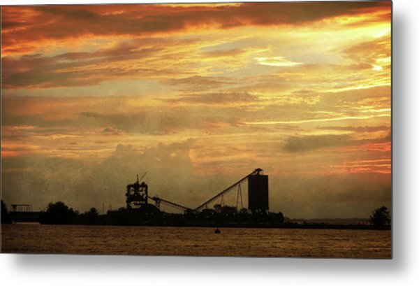 Sandusky Coal Dock Sunset Metal Print