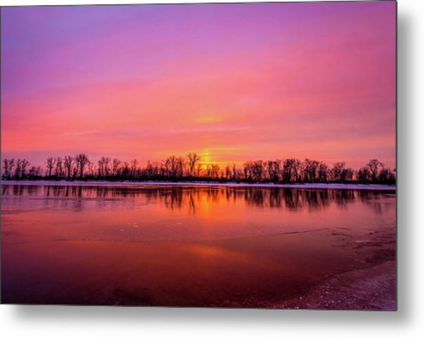 Sandy Chute Sunset Metal Print
