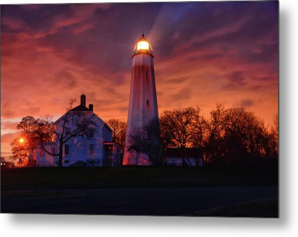 Sandy Hook Lighthouse Metal Print
