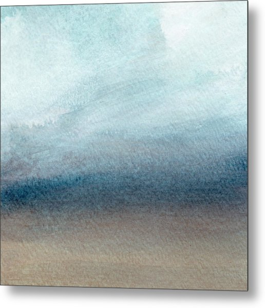 Sandy Shore- Art By Linda Woods Metal Print
