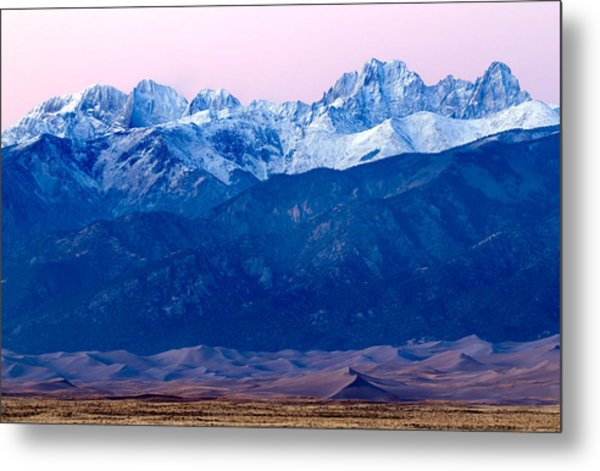 Sangre De Christo And The Great Sand Dunes National Park Metal Print