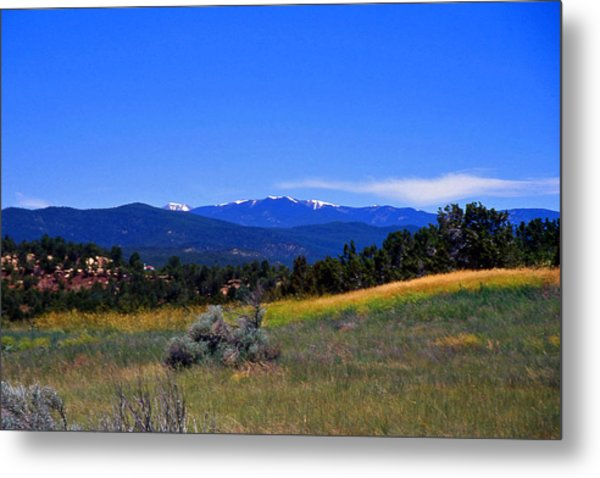 Sangre De Cristos Mountains New Mexico Metal Print by Randy Muir