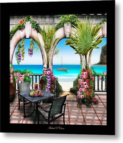 Sangria Beach Metal Print