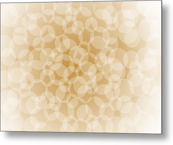 Sanguine Abstract Circles Metal Print